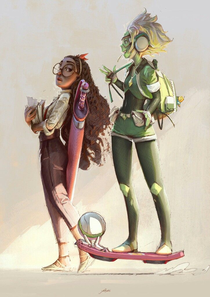 This version of Peridot is so cool! Love it!!   Connie and Peridot || I love this style :3