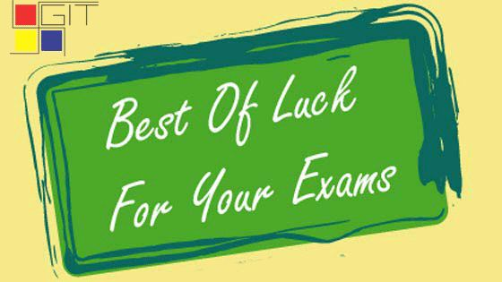 We Wish our Students (BE Sem 1 & 3) Good Luck with their Gujarat Technological University exams this week! (18-12-2015) Our suggestion for those who are feeling stressed: stay calm and confident and check out these top-5 points.. 1. No All-Nighters 2. No early morning cramming 3. No distracting music 4. Find alternate study spaces 5. Join a study group