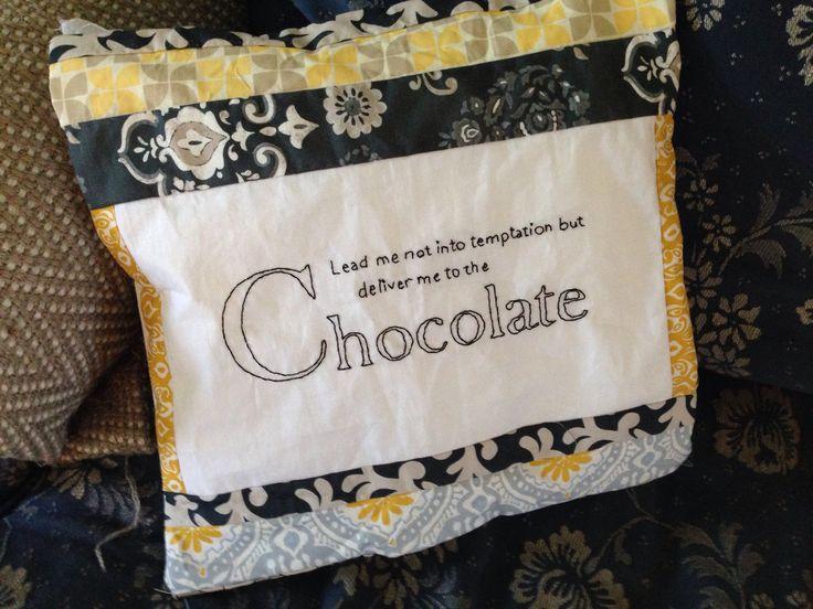 Chocolate cushion for kirsten