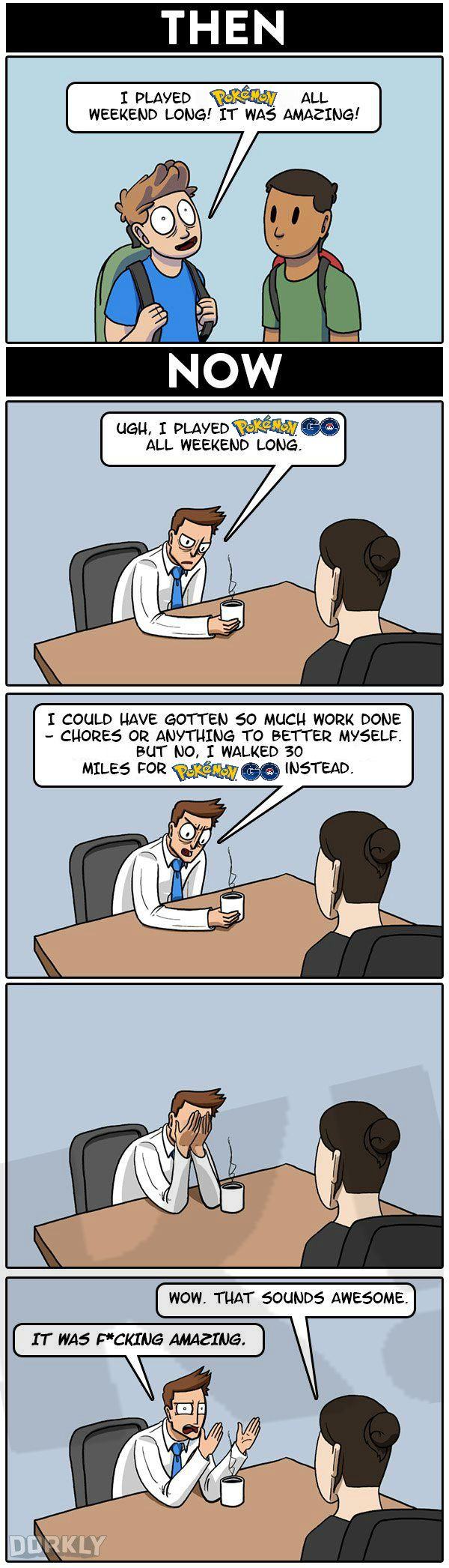 I updated an old Dorkly comic to reflect my weekend.