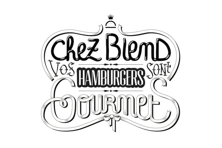 Blend Hamburger Paris   Gorgeous typography design.