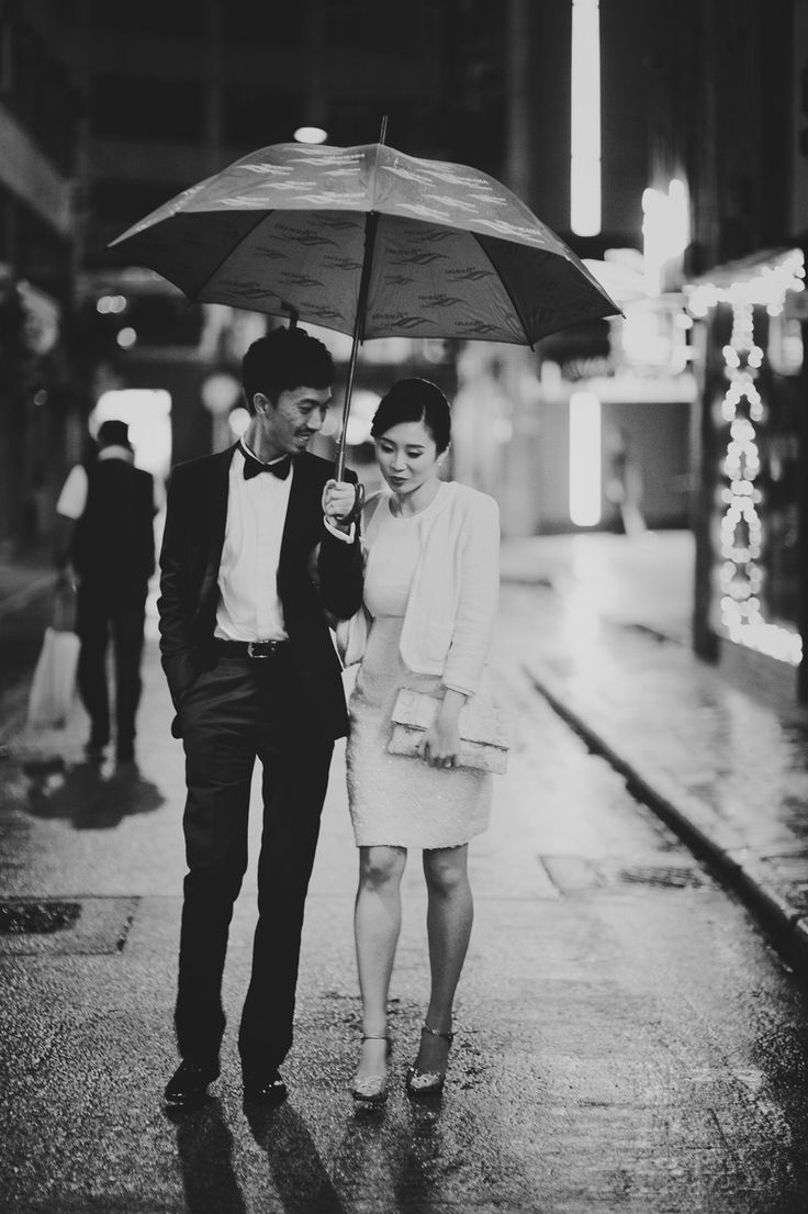 There's something just so film noir about this image. A Chic and Intimate Hong Kong Wedding: Elgin and Kai