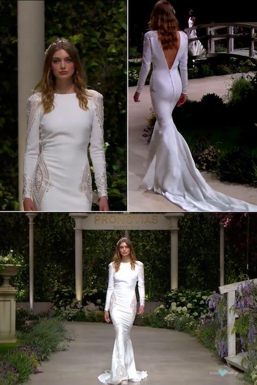 pronovias 2019 directo desde el barcelona bridal fashion week