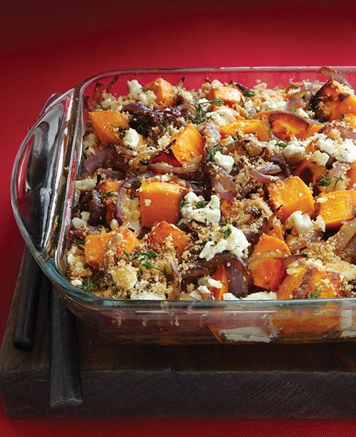 Roasted Sweet Potatoes, Caramelised Onions & Goat Cheese - Recipes - Clean eating. New recipe for Thanksgiving!