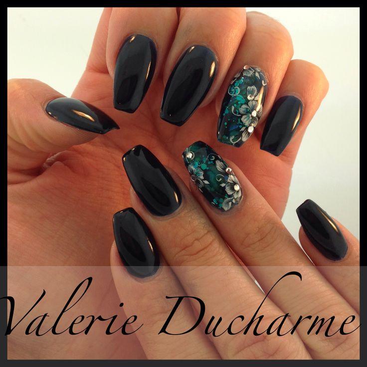 Nails art design pointu nails ongles design by Valerie Ducharme ;-)