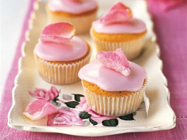 muffins med chokladglasyr