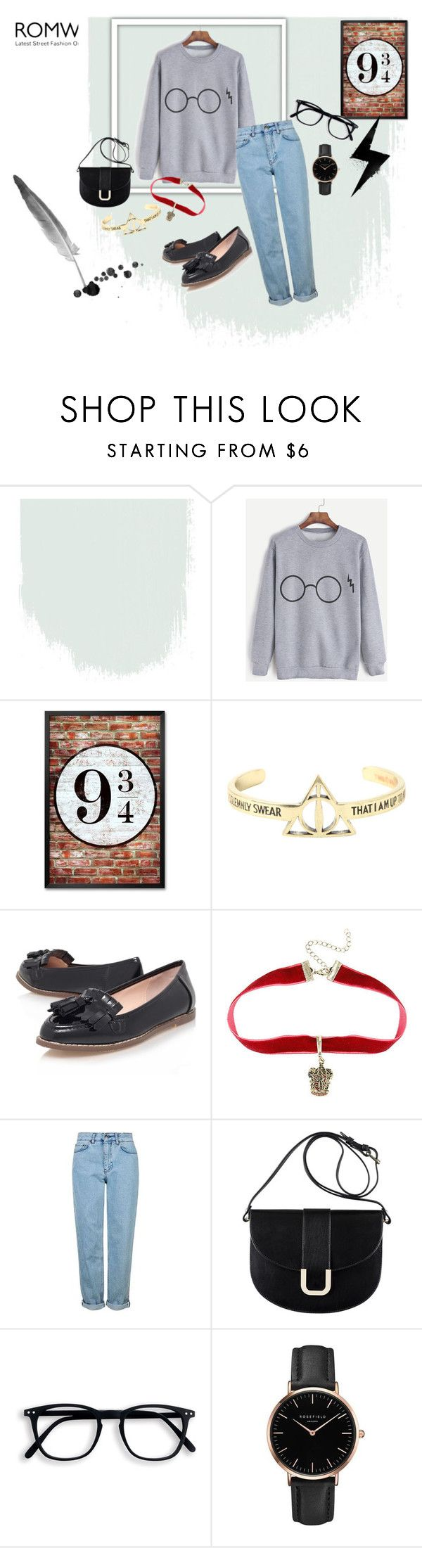 """""""Potter"""" by ellenias ❤ liked on Polyvore featuring Warner Bros., Carvela, Topshop and A.P.C."""
