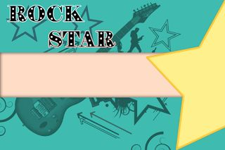 Kit festa para imprimir gratuito, Estrela do Rock (Rock Star),