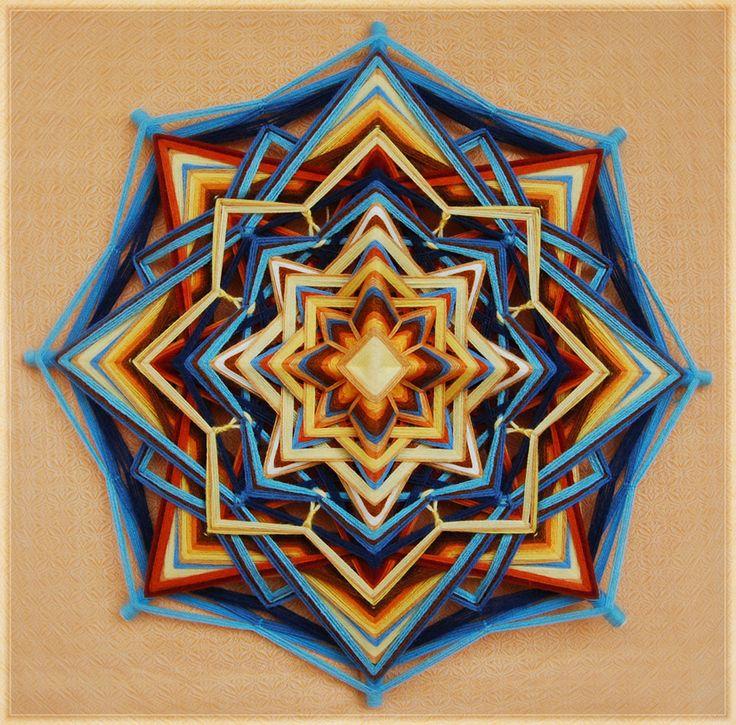 Jiva mandalas - handmade ojos de dios woven mandalas for home decoration or meditation.