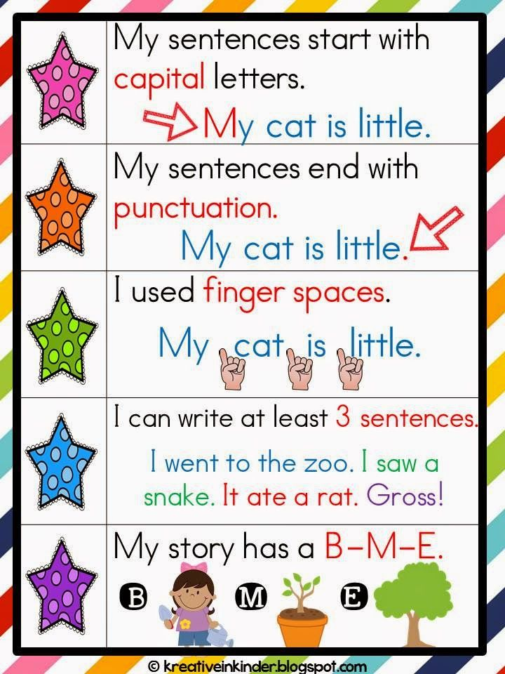 Kreative in Kinder: Writing FREEBIE