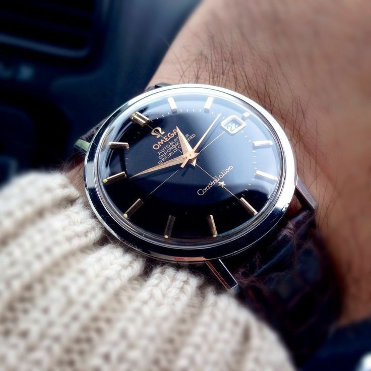 Vintage Omega Constellaton Chronometer In Stainless Steel Circa 1960s