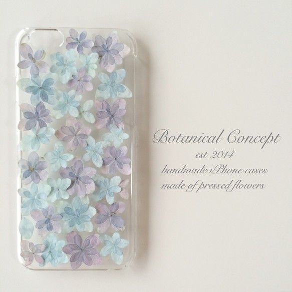 Creator: Botanical Concept Creema iPhone5/5sケース アジサイ ブルー&パープル