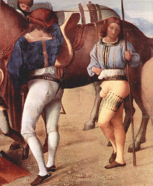 Italian Men in Hose, Giorgione,1477–1510, National Gallery of London
