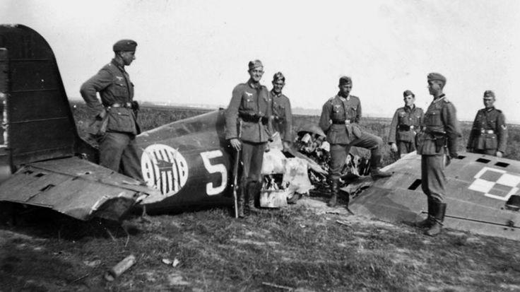 PZL P.11c, No.5, 111 Eskadra Myśliwska (111 Fighter Squadron), pilot kpt. Gustaw Sidorowicz, September 1939