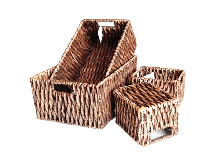 Home24h co,.ltd: S/4 Water Hyacinth Espresso Baskets