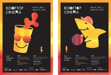 rooftop cinema promotional poster campaign