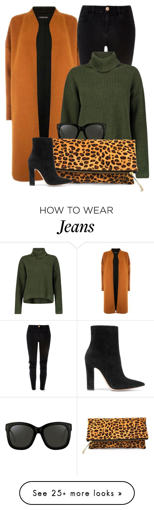 """My Style"" by mimicdesign on Polyvore featuring Warehouse, River Island, Boohoo, Linda Farrow, Gianvito Rossi, GREEN, LeopardPrint, leoprint and leopardbag"