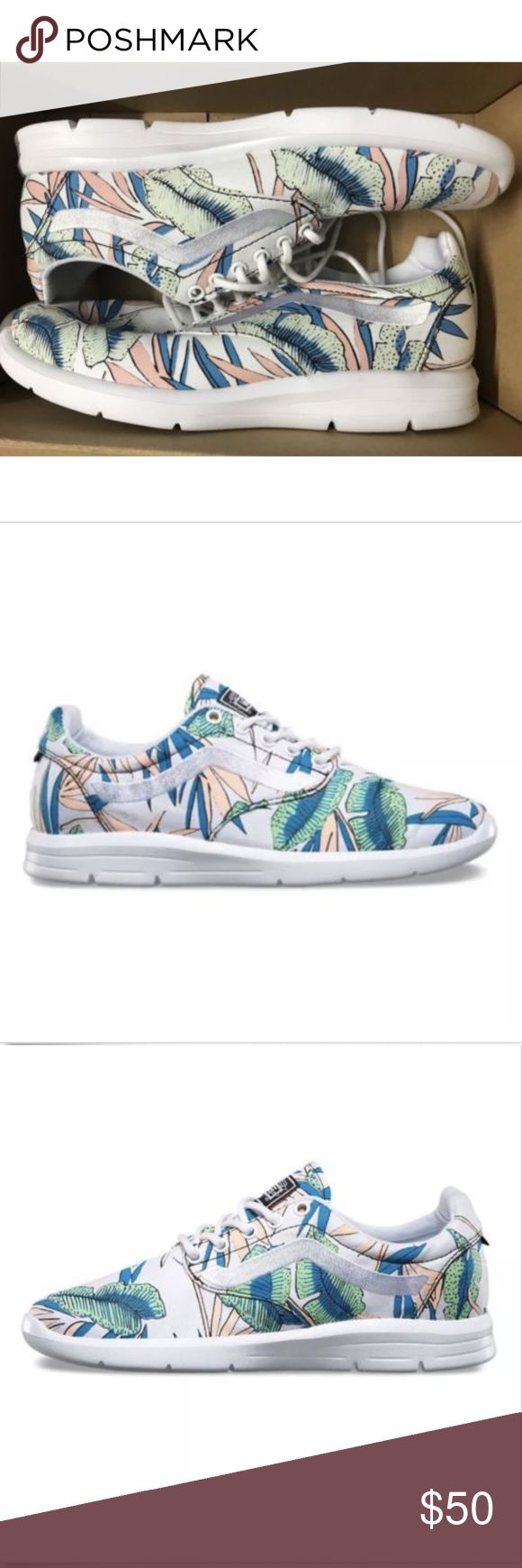 Vans Iso 1.5 Tropical Leaves True White Vans Iso 1.5 Tropical Leaves True White  Size Men 7.5 Women 9 Brand new in box Vans Shoes Athletic Shoes
