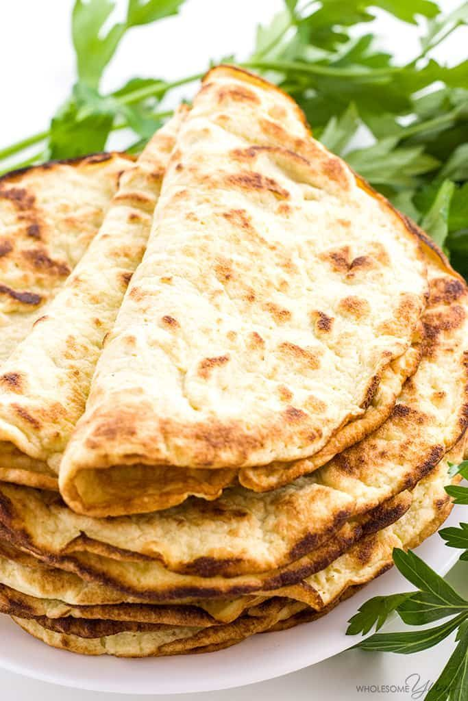 Low Carb Paleo Tortillas Recipe with Coconut Flour (3 Ingredients) - If you're looking for easy coconut flour recipes, try paleo low carb tortillas with coconut flour. Make these keto paleo coconut wraps w/just 3 ingredients!