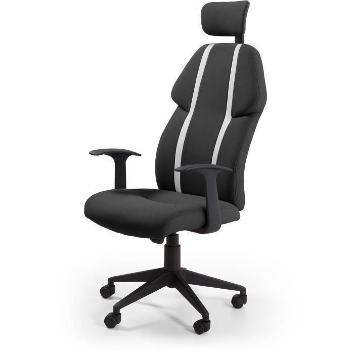 Buzz Chaise De Bureau Simili Et Tissu Noir Style Urbain L 63 X P 67 Cm Tissu Bleu Tissu Noir Et Chaise Bureau