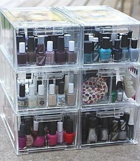 Shoe drawers for organizing nail polishes