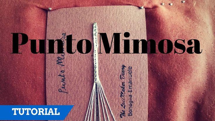 Encaje de bolillos Italiano - Punto mimosa / parte 1
