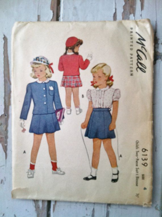Classy Little Girls Suit Pattern by McCalls by happydayantiques, $7.00