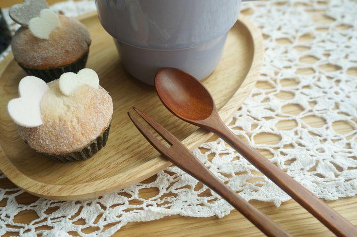 Wood tea fork&spoon. www.cozylazy.co.kr
