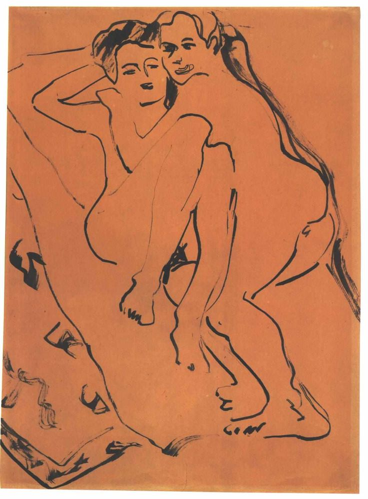 Lovers by Ernst Ludwig Kirchner