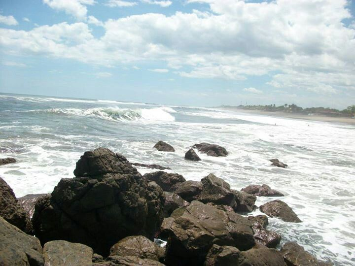 Strand bij Las Penitas, Nicaragua. Juni 2013