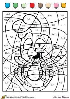 30 Coloriage Magique Ce1 Addition Élégant | Math coloring ...