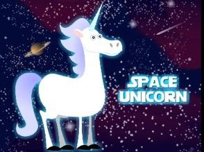 Space Unicorn! Soaring through the sky! Delivering the rainbows all across the world! And if you know the song, you did not read this, you sang it! XD
