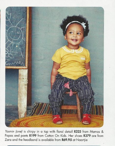 Yasmin in the Your Baby Magazine