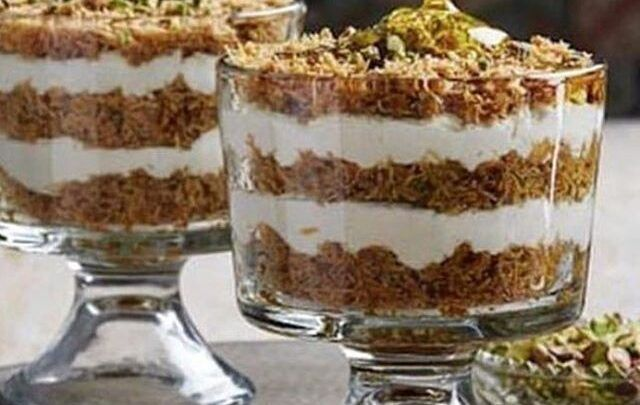 حلا السنكرس Layered Desserts Desserts Food