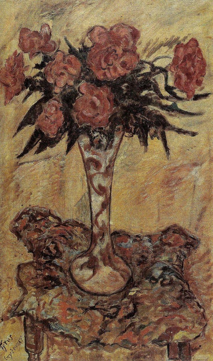 """Tytus Czyżewski """"Kwiaty w wazonie"""", ok. 1932, olej na płótnie, 100 x 60,5 cm, Muzeum Narodowe, Warszawa"""