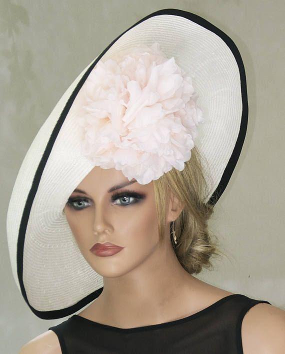 Derby Hat Wedding Las Pink Wide Brim Church Occasion Formal
