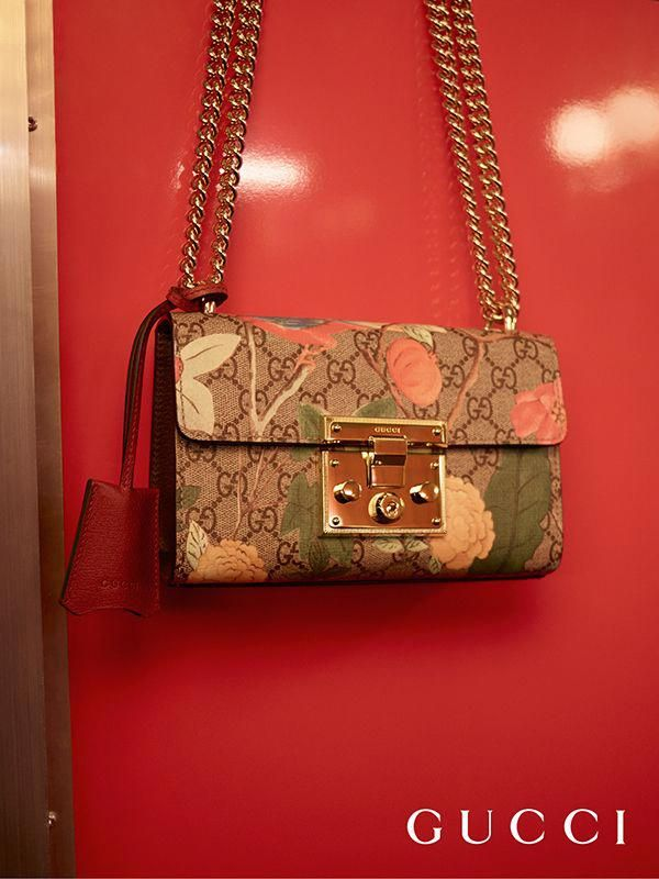 65ef994906d ... GG motif in Gucci Spring Summer 2016 s new Gucci Tian Padlock shoulder  bag. Designed by Alessandro Michele