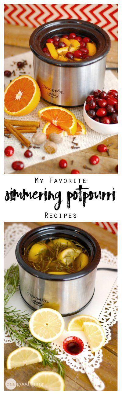 My Favorite Simmering Potpourri Recipes