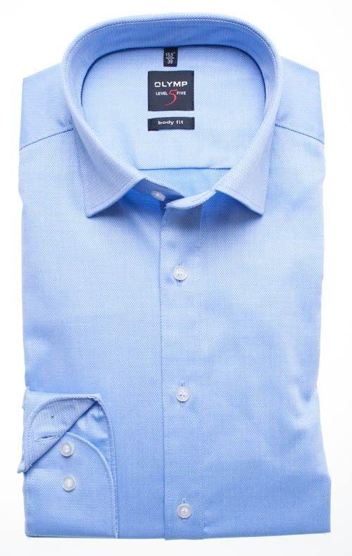 OLYMP Level 5 Five Body fit overhemd blauw 0464.64.15