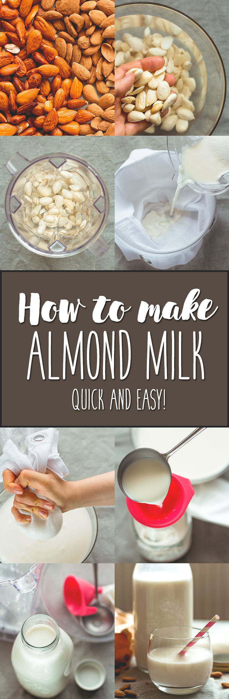 How to Make Almond Milk? Try this quick & EASY recipe, you'll love it! So delicious! | thehealthfulideas.com