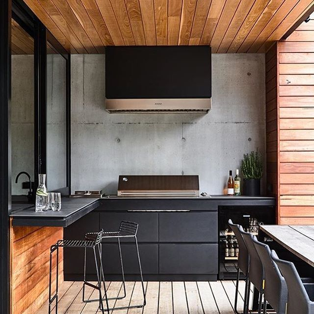 It's the weekend again which means friends and BBQs. What a beautiful location by @acre_studio to prepare, cook, eat and drink the day away with ones you love! #myhuntergatherer #mhy #home #holiday #weekend #bbq #outdoorkitchen #terrace #home #weekend #saturday #friends #interiors #interiordesign #design #architecture