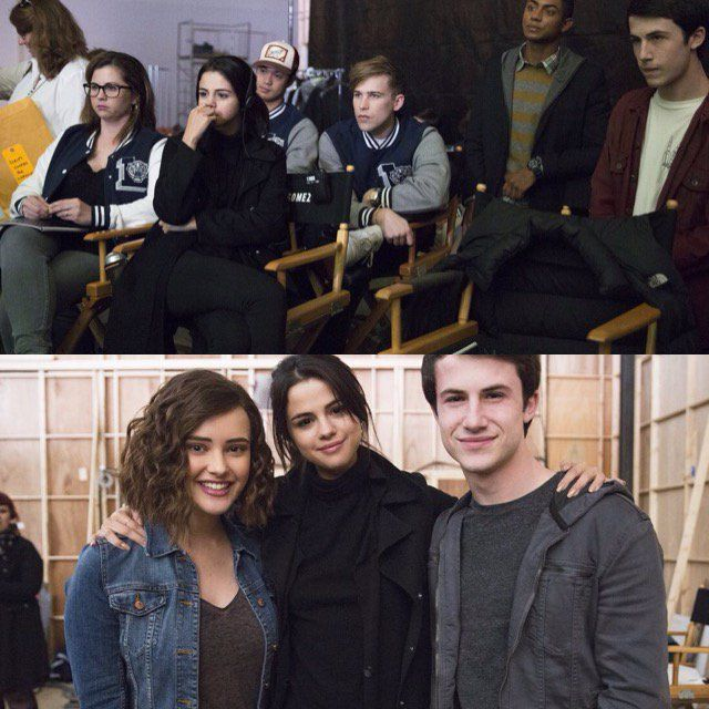 "Selena Gomez on the set of her Netflix show ""13 Reasons Why"""