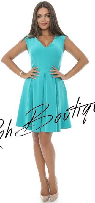 rochii albastre elegante cu pliuri