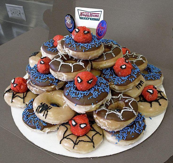 Donut birthday cake ideas doughnut cake donut birthday