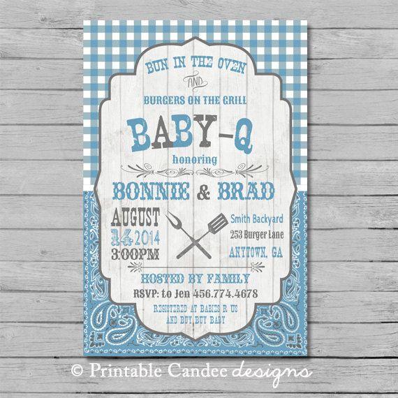 BBQ Boy Baby Shower Invitation  DIY Custom by printablecandee, $10.00
