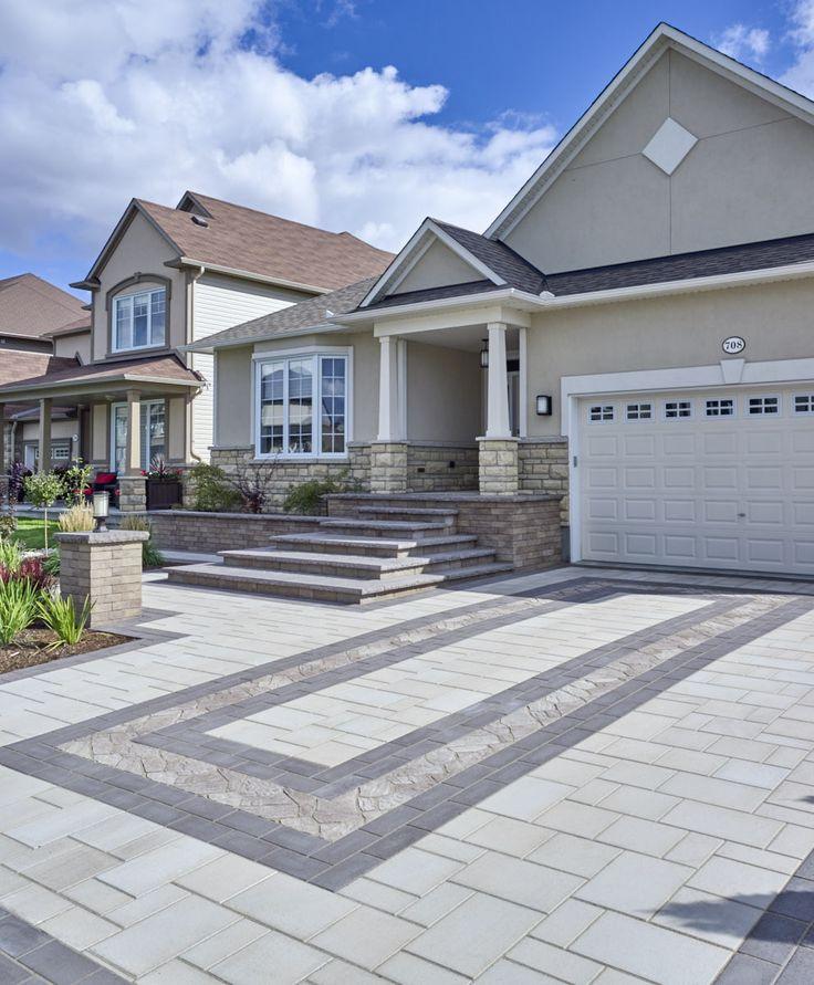 Home Driveway Design Ideas: 33 Best Techo-Bloc Pavers & Retaining Walls