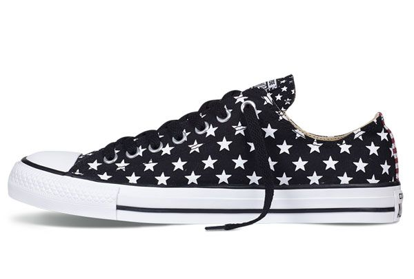 Black American Flag White Stars Print Chuck Taylor All Star Low Tops Canvas Sneakers [143118C] - $58.00 : Canada Converse, Converse Ofiicial in Ontario