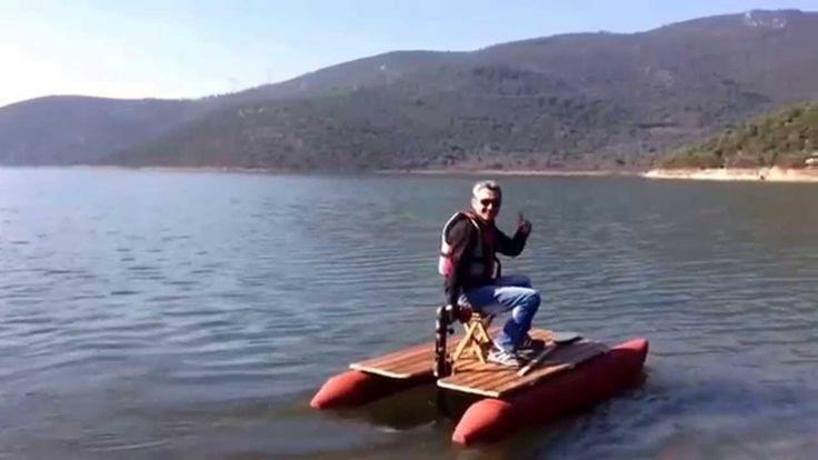 Şarjlı Matkap İle giden Tekne Bot Elektrikli
