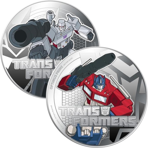 2013 $2 #Transformers 1oz Silver Proof 2-Coin Set