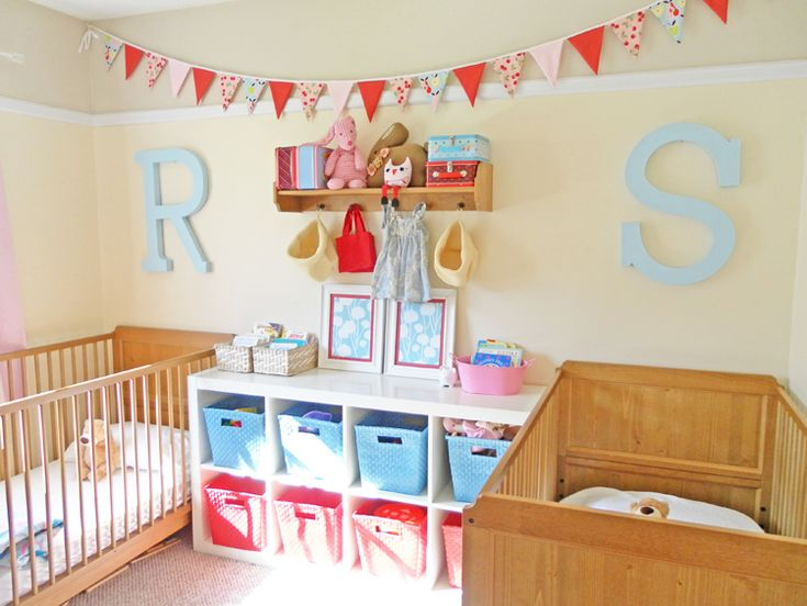 Two in a Room Bedroom Redo - have a really small space and need to fit two cribs?  Well here is a MAJOR helper.